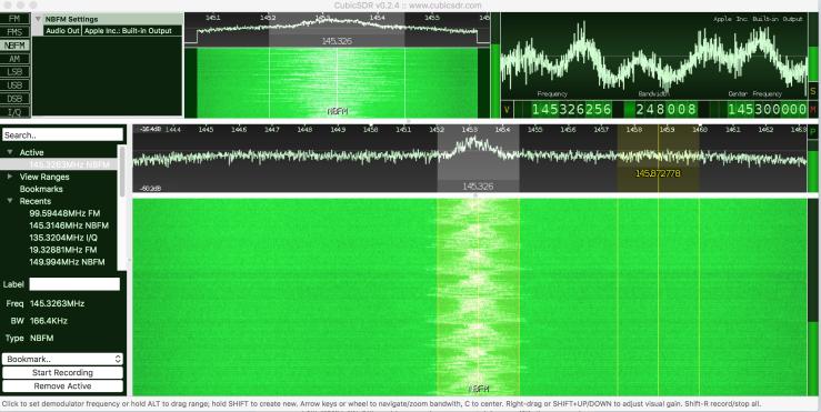 osmo-fl2k demo 1:Transmitter FM with USB 3 0 to VGA
